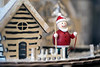 A miniature Santa complete with a North Pole set piece was one of several dozen for sale at Scout on Small Business Saturday. 11/25/17