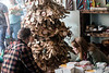 Brandon and Megan Saxton take a look at a Christmas tree made from recycled paper while shopping in Revelry on Small Business Saturday. 11/25/17