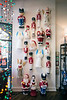 A vintage collection of Christmas yard decorations filled a wall in Scout on Small Business Saturday. 11/25/17