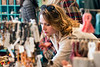 Gina McNabb takes a closer look as she shops in Revelry on Small Business Saturday. 11/25/17