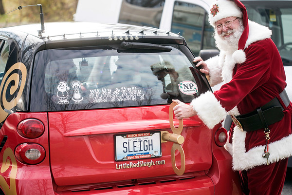 Santa has a more modern sleigh these days to help with the holiday deliveries. 11/29/17
