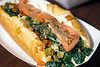 Barry's Veggie Cheesesteak is a mix of mushrooms, onions, broccoli, spinach, tomato, and hot, mild or banana peppers. 12/5/17