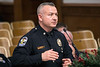 LMPD Major Josh Judah, the Commander of the Fourth Division, answered questions during the department's annual crime report to the Louisville Metro Council. 12/6/17