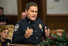 LMPD Major Todd Kessinger, the Commander of the Major Crimes Division, answered questions during the department's annual crime report to the Louisville Metro Council. 12/6/17