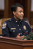 LMPD Major Andrea Brown, the Commander of the Community Services Division, answered questions during the department's annual crime report to the Louisville Metro Council. 12/6/17
