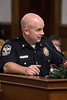 LMPD Major Eric Johnson, the Commander of the First Division, answered questions during the department's annual crime report to the Louisville Metro Council. 12/6/17