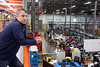 Radial Fulfillment & Distribution Director of Operations Jeff Flood watches over the facility on a Friday morning. 12/8/17