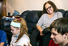 Brenda Nichols watches over her five grandchildren as they play in the Valley Station home she is currently raising them in. 12/22/17