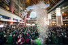 A confetti cannon exploded at midnight as hundreds of balloons were released at Fourth Street Live on Sunday night to ring in the new year. 12/31/17