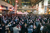Revelers filled Fourth Street moments before the ball dropped on 2017 despite the cold conditions. 12/31/17
