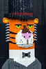 The 9600 LEGO piece Mr. Tiger was built in 2013 for a New York City book publisher as inspired by the award winning children's book Mr. Tiger Goes Wild. 1/6/18