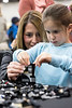 Stephanie and Kylee Kaufman worked on a LEGO creation at one of the many tables scattered about the East Wing of the Kentucky Expo Center during the Brick Universe LEGO Convention on Saturday. 1/6/18