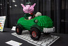 The Richard Scarry inspired Mr. Frumble's Pickle Car sported a lifesize pig at the wheel during the Brick Universe LEGO Convention. 1/6/18