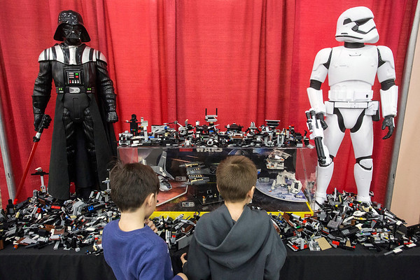 A Star Wars corner at the Brick Universe LEGO Convention attracted fans interested in building vehicles and weapons for the Dark Side. 1/6/18