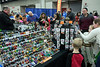 Merchants were surrounded by eager shoppers looking for their favorite minifigures during the Brick Universe LEGO Convention. 1/6/18