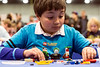 Michael Sherman put his LEGO building skills on the line in an area called the Challenge Zone at the Brick Universe LEGO Convention. 1/6/18