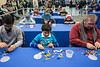 LEGO fans put their building skills to the test and against the clock in the Challenge Zone of the Brick Universe LEGO Convention on Saturday. 1/6/18