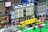 Heavily detailed set pieces boasted dozens of individual street scenes complete with moving parts at the Brick Universe LEGO Convention. 1/6/18