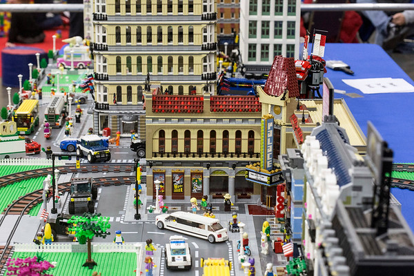 Long tables in the Fan Zone of the Brick Universe LEGO Convention displayed the incredibly detailed work and showmanship of local and regional artists. 1/6/18