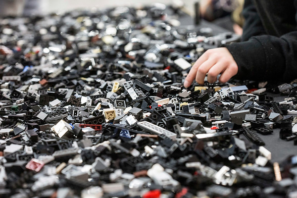 Thousands of LEGO pieces could be found on dozens of tables throughout the Brick Universe LEGO Convention attracting builders of all ages to be creative on Saturday afternoon. 1/6/18