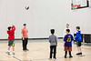 Kids lined up to compete in a St. X sponsored shooting contest during Sports Fest. 1/7/18