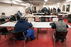 The community dining hall at the Wayside Christian Mission on East Jefferson Street opened its doors at noon on Friday to serve hot meals to the homeless. 1/12/18