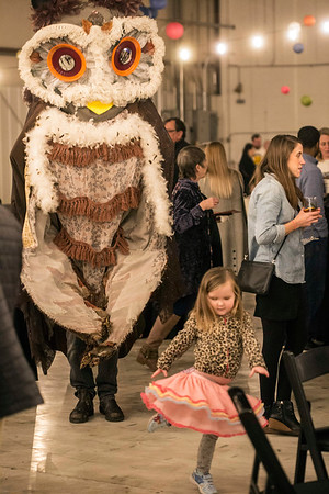 The Squallis Puppeteers provided roving entertainment during an open house event for the Logan Street Market. 1/20/18