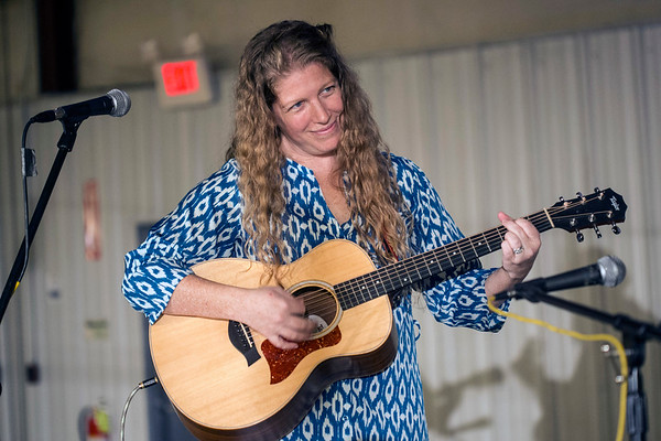 Musician Brigid Kaelin was one of the featured entertainers during a Logan Street Market open house on Saturday. 1/20/18