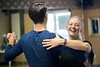 Derby City Ballroom dance instructor Jennifer Henderson shares a laugh with actor Ryan Devlin as the occasional misstep occurs during competition rehearsal. 1/30/18