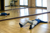 Actor Ryan Devlin plops down on the floor at Derby City Ballroom after a lengthy rehearsal for an upcoming dance competition. 1/30/18
