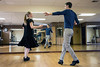 Movie and TV actor Ryan Devlin and dance instructor Jennifer Henderson use the long floor and mirrored wall at Derby City Ballroom to rehearse for an upcoming competition. 1/30/18