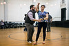 Patrick Draus and Emily Schuhmann show off their advanced moves during a swing class at Highlands Community Ministries on Tuesday night. 1/30/18