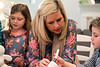 Bekah Bischoff plays Pictionary Man with her children Henry and Ady. 2/8/18