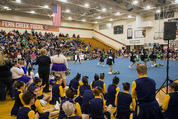 The gym at Fern Creek High was full of pep and cheer during the Special Olympics Kentucky cheerleading competition on Saturday afternoon. 2/17/18
