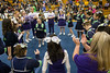 13 teams from around the state gathered in a circle to dance and let off steam before the start of the Special Olympics Kentucky cheerleading competition on Saturday. 2/17/18