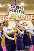 The Louisville Royals squad employed handemade pep signs during their performance at the Special Olympics Kentucky cheerleading competition. 2/17/18