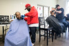 Barber J. Alexander sets up shop at Wayside Christian Mission on a recent Sunday afternoon to provide free cuts to those in need. 2/18/18