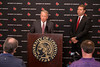 UofL interim president Dr. Greg Postel and interim AD Vince Tyra answered questions about the NCAA ruling on the mens basketball program during a Tuesday afternoon press conference. 2/20/18