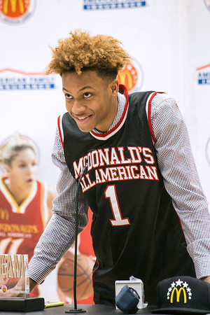 4207c433f29 Romeo Langford cracked a smile as he stepped to the mic to address his  fellow students