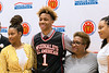 New Albany basketball phenom Romeo Langford posed with his family during a ceremony where he received his McDonald's All-American jersey on Thursday afternoon. 2/22/18