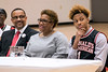 New Albany basketball standout Romeo Langford sat with his parents as several speakers praised his athletic prowess and general demeanor during a ceremony where he received his McDonald's All-American jersey on Thursday. 2/22/18