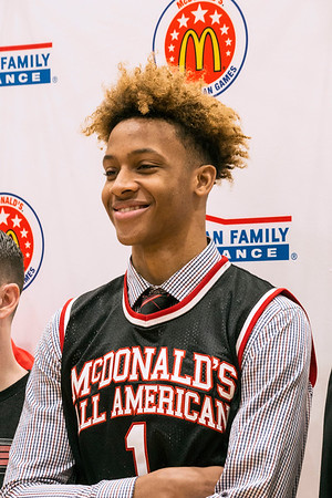 e16cfb35040 New Albany High s Romeo Langford was all smiles after he received his  McDonald s All-American