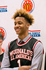 New Albany High's Romeo Langford was all smiles after he received his McDonald's All-American jersey on Thursday. 2/22/18