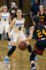 Mercy's Regan Berger goes one on one against Bullitt East's Emma Ralph during the 24th District Final on Thursday night. 2/22/18