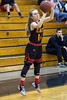 Cori Etherton of Bullitt East launches one of the many threes shot against Mercy during the 24th District Final on Thursday night. 2/22/18