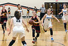 Emma Ralph of Bullitt East looks for the open player down court against Mercy during the 24th District Final on Thursday night. 2/22/18