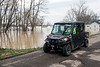 West Point police patrol the area discouraging sightseers from visiting the flooded town as residents struggle with the disaster. 2/25/18