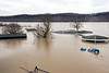 A second floor view from the West Point fire department shows the extent of flooding as the Ohio River continued to rise on Sunday. 2/25/18