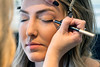 Before getting great looking lashes, stylist Jill Higginbotham starts with proper application of eye liner. 2/27/18