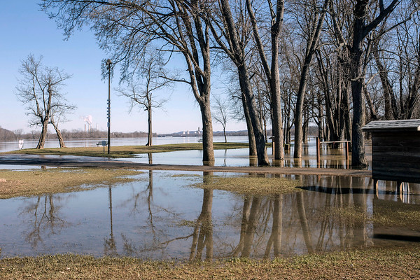 Floodwaters continued to recede in West Point, KY on Saturday afternoon as the sleepy river town experienced damage to at least 60 homes during recent storms. 3/3/18